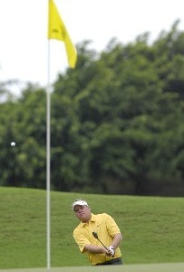 Carl Pettersson of Sweden during the fourth and final round of the WGC-Barbados World Cup held on the Country Club Course at the Sandy Lane Resort in St. James, Barbados, on December 10, 2006. PGA TOUR - WGC - 2006 Barbados World Cup - Final RoundPhoto by Steve Levin/WireImage.com