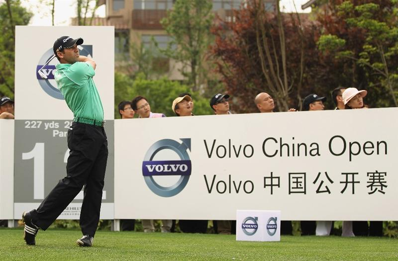 CHENGDU, CHINA - APRIL 21:  Sergio Garcia of Spain in action during first round of the Volvo China Open at Luxehills Country Club on April 21, 2011 in Chengdu, China.  (Photo by Ian Walton/Getty Images)