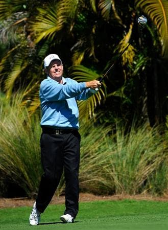 NAPLES, FL - FEBRUARY 21:  Wayne Levi plays a shot on the 2nd hole during the second round of the ACE Group Classic at the TPC Treviso Bay on Februrary 21, 2009 in Naples, Florida.  (Photo by Sam Greenwood/Getty Images)