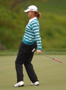 Helen Alfredsson in action during the first round of the LPGA's 2006 Michelob ULTRA Open at Kingsmill, at the Kingsmill Resort and Spa River Course in Williamsburg, Virginia on May 11, 2006.Photo by Steve Grayson/WireImage.com