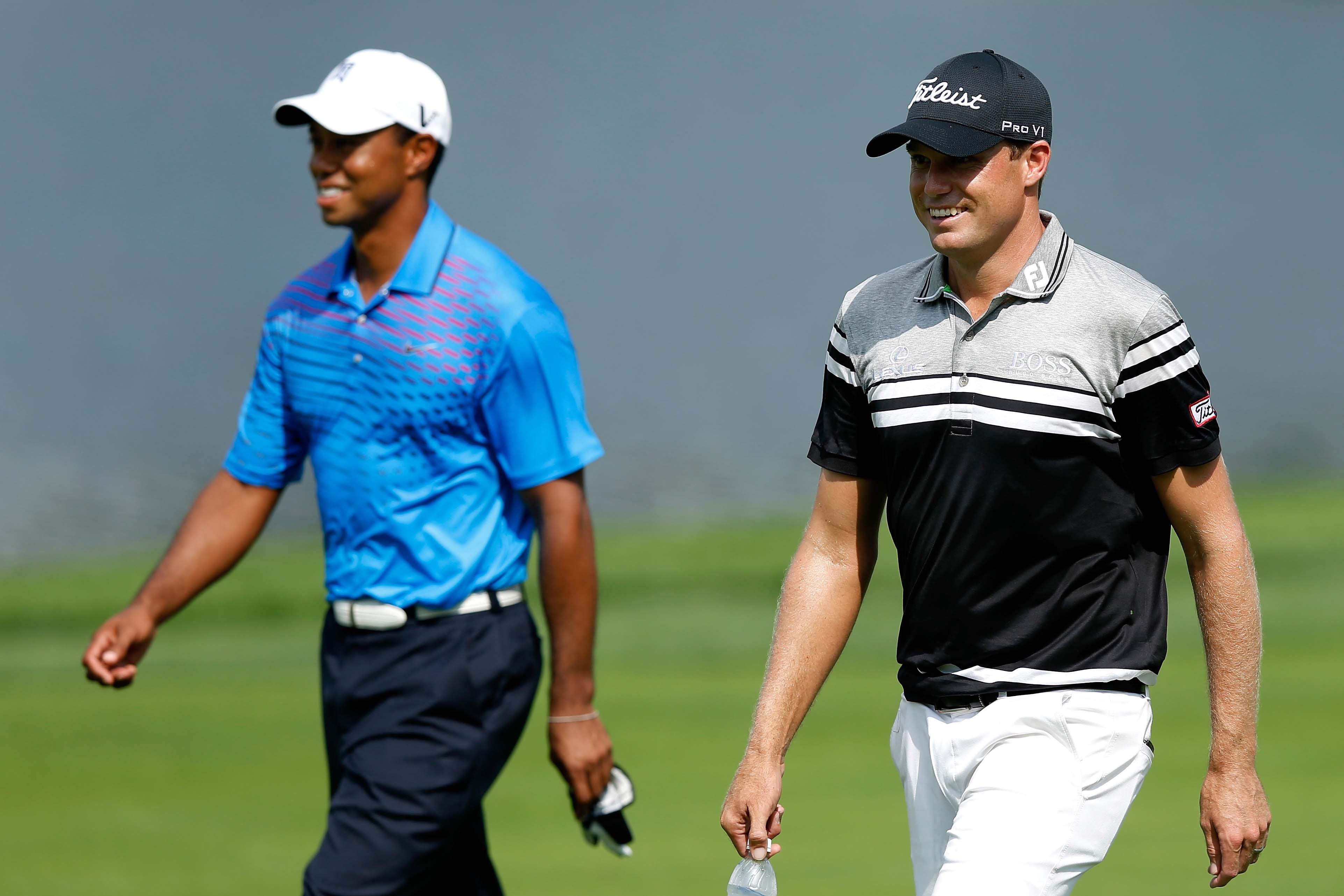 Tiger Woods and Nick Watney