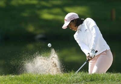 Julieta Granada blasts out of the sand around the 12th green during the first round of the 2007 Sybase Classic Presented by ShopRite Thursday, May 17, 2007, at Upper Montclair Country Club in Clifton, New Jersey. LPGA - 2007 Sybase Classic Presented by ShopRite - First Round - May 17, 2007Photo by Kevin C.  Cox/WireImage.com