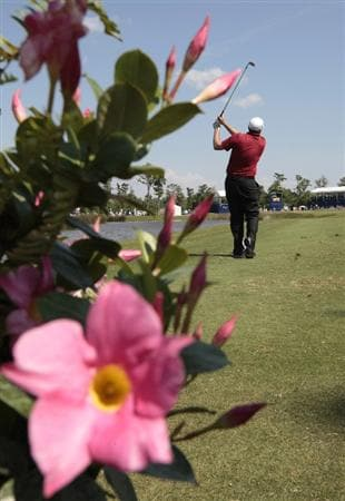 AVONDALE, LA - APRIL 25: Steve Marino hits his tee shot on the 17th hole during the third round of the Zurich Classic at TPC Louisiana on April 25, 2009  in Avondale, Louisiana. (Photo by Dave Martin/Getty Images)