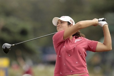 USA's Laura Diaz in action during the third round of the 2006 Weetabix Women's British Open at the Royal Lytham and St. Annes Golf Club. August 5, 2006.Photo by Pete Fontaine/WireImage.com