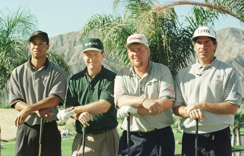 Tiger Woods, Tom Watson, John Daly and Fred Couples