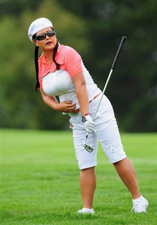 EVIAN-LES-BAINS, FRANCE - JULY 23:  Christina Kim of USA during the first round of the Evian Masters at the Evian Masters Golf Club on July 23, 2009 in Evian-les-Bains, France.  (Photo by Stuart Franklin/Getty Images)