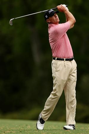 AUGUSTA, GA - APRIL 08:  Steve Stricker hits a shot on the fifth hole during the first round of the 2010 Masters Tournament at Augusta National Golf Club on April 8, 2010 in Augusta, Georgia.  (Photo by Andrew Redington/Getty Images)