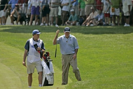 Allen Doyle wins the the U. S. Senior Open, July 30,2005, held at the NCR Country Club, Kettering, Ohio.Photo by Stan Badz/PGA TOUR/WireImage.com