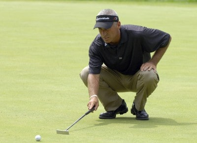 Corey Pavin during the first round of the U.S. Bank Championship in Milwaukee at Brown Deer Park Golf Course in Milwaukee, Wisconsin, on July 27, 2006.Photo by Steve Levin/WireImage.com
