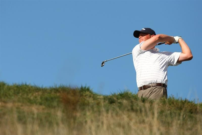MADRID, SPAIN - OCTOBER 11:  David Drysdale of Scotland during the Final Round of the Madrid Masters at Cantro Nacional De Golf on October 9, 2009 in Madrid, Spain.  (Photo by Ian Walton/Getty Images)