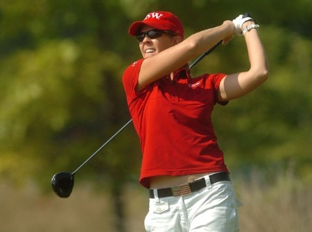 Jill McGill in action during the first round of the LPGA's Wendy's Championship For Children at Tartan Fields Golf Club in Dublin, Ohio August 25, 2005.Photo by Steve Grayson/WireImage.com