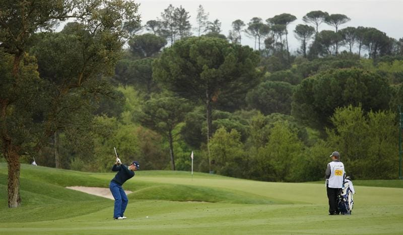 GIRONA, SPAIN - MAY 01:  Magnus A Carlsson of Sweden plays his second shot into the 10th green during the second round of the Open de Espana at the PGA Golf Catalunya on May 1, 2009 in Girona, Spain.  (Photo by Warren Little/Getty Images)