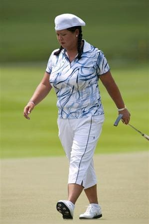 CHON BURI, THAILAND - FEBRUARY 17:  Christina Kim of USA walks on the 15th green during day one of the LPGA Thailand at Siam Country Club on February 17, 2011 in Chon Buri, Thailand.  (Photo by Victor Fraile/Getty Images)