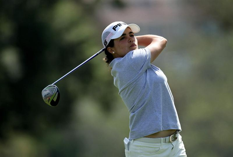 CARLSBAD, CA - MARCH 25:  Maria Hernandez of Spain hits her tee shot on the seventh hole during the first round of the Kia Classic Presented by J Golf at La Costa Resort and Spa on March 25, 2010 in Carlsbad, California.  (Photo by Stephen Dunn/Getty Images)