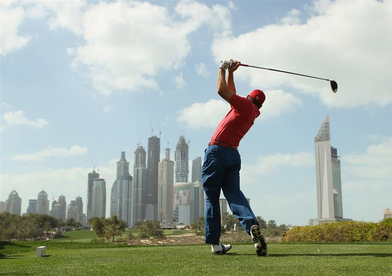 DUBAI, UNITED ARAB EMIRATES - FEBRUARY 13:  Sergio Garcia of Spain in action during the final round for the 2011 Omega Dubai desert Classic held on the Majilis Course at the Emirates Golf Club on February 13, 2011 in Dubai, United Arab Emirates.  (Photo by Ian Walton/Getty Images)