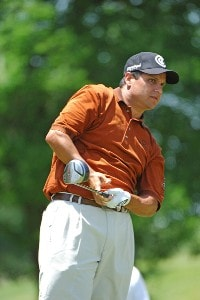 Omar Uresti tees off the 9th tee during final round of the EDS Byron Nelson Championship held at the TPC Players Course and the Cottonwood Valley Course on Sunday, May 14, 2006 in Irving, TexasPhoto by Marc Feldman/WireImage.com
