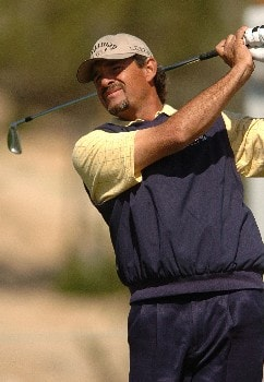 Carlos Franco in action during the third round of the PGA's Tour 2005 Chrysler Classic of Tucson at the Omni Tucson National Golf Resort & Spa February 26, 2005 in Tuscon, Arizona.