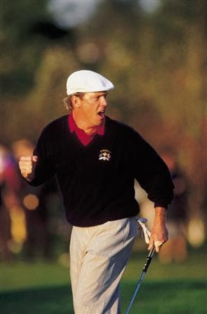 26 Sep 1993:  Payne Stewart of the USA team celebrates during the Ryder Cup at the Belfry in Sutton Coldfield in England. \ Photo by Gary Newkirk. \ Mandatory Credit: AllsportUK  /Allsport