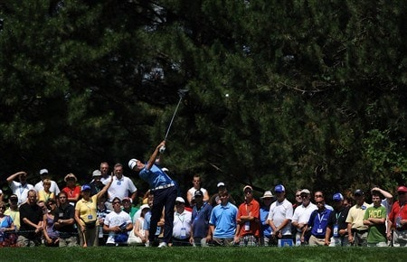 OAKVILLE, ON - JULY 25:  Sean O'Hair makes a tee shot on the 16th hole during the second round of the RBC Canadian Open at the Glen Abbey Golf Club on July 25, 2008 in Oakville, Ontario.  (Photo by Robert Laberge/Getty Images)