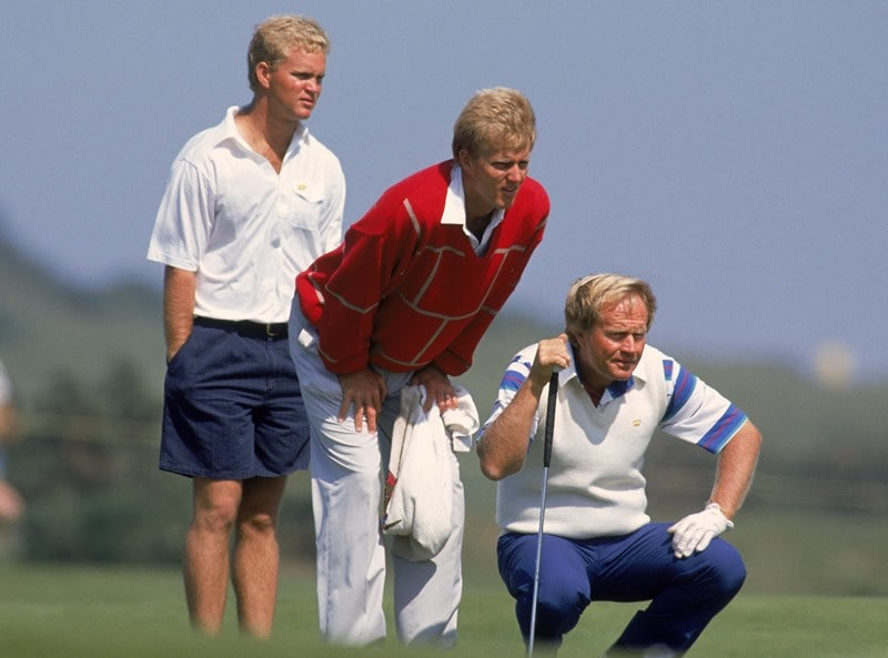 Jack Nicklaus with sons Jack Jr. and Gary