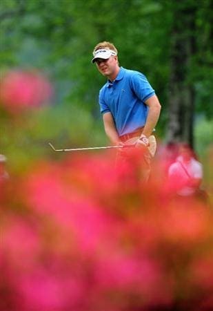 TURIN, ITALY - MAY 09:  Roope Kakko of Finland plays his chip shot on the fourth hole during the third round of the BMW Italian Open at Royal Park I Roveri on May 9, 2009 near Turin, Italy.  (Photo by Stuart Franklin/Getty Images)