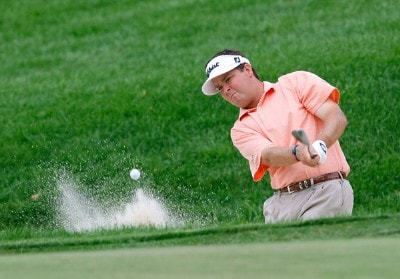 Hunter Haas works out of a bunker during the first round of the Xerox Classic August 16, 2007 held at Irondequoit Country Club in Rochester, New York. Nationwide Tour - 2007 Xerox Classic - First RoundPhoto by Jim Rogash/WireImage.com