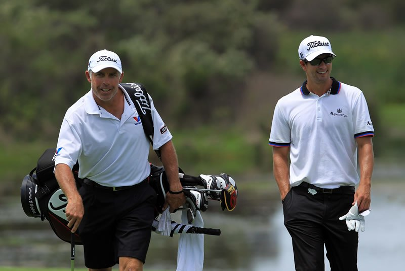 Adam Scott and Steve Williams