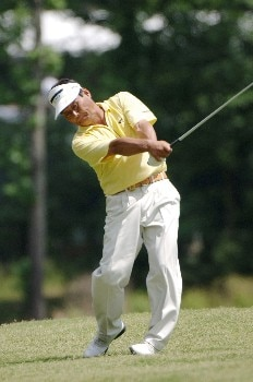 Hajime Meshiai drives from the fairway  on the 18th hole  during the second round of  the 2005 Bruno's Memorial Classic, May 21, in Hoover, Al.Photo by Al Messerschmidt/WireImage.com