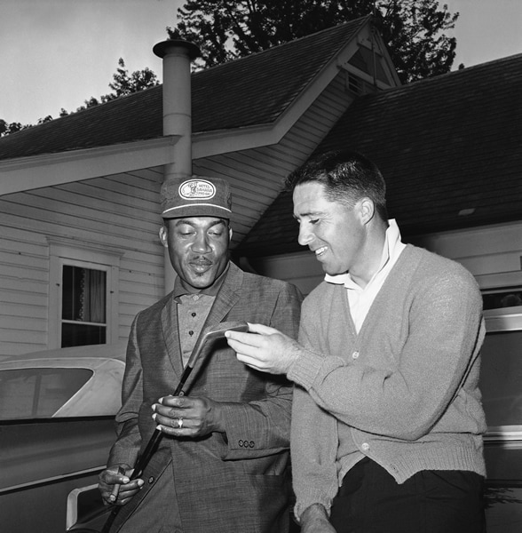 Charlie Sifford and Gary Player