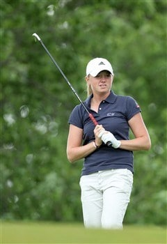 EDINA, MN - JUNE 28:  Stacy Lewis of the USA tees off at the 4th hole during the third round of the 2008 U.S. Women's Open Championship held at Interlachen Country Club on June 28, 2008 in Edina, Minnesota.  (Photo by David Cannon/Getty Images)