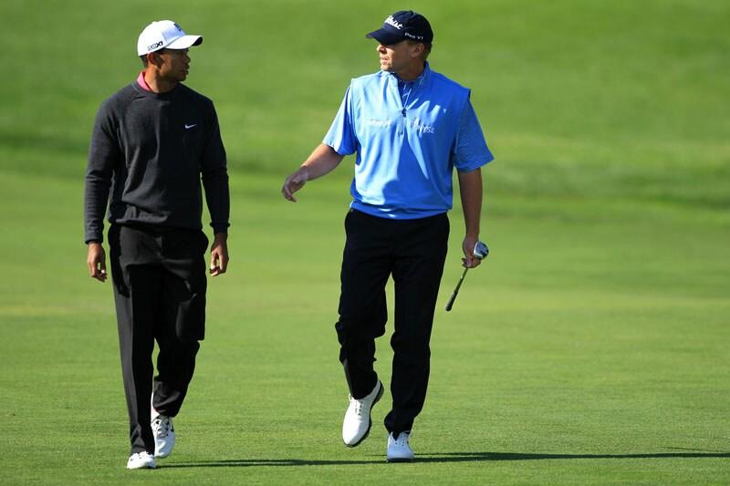 Tiger Woods and Steve Stricker