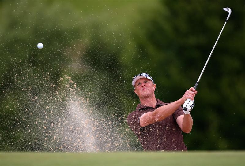 ST OMER, FRANCE - JUNE 20:  Fredrik Andersson Hed of Sweden hits out of a bunker during Round Three of the Open de St Omer at the AA St Omer Golf Club on June 20, 2009 in St Omer, France.  (Photo by Ryan Pierse/Getty Images)