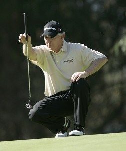 Hale Irwin in action during the first round of the PGA Champion's TOUR 2007 AT&T Champions Classic at the Valencia Country Club in Santa Clarita, California on March 16, 2007. Champions Tour - 2007 AT&T Champions Classic - First RoundPhoto by Steve Grayson/WireImage.com