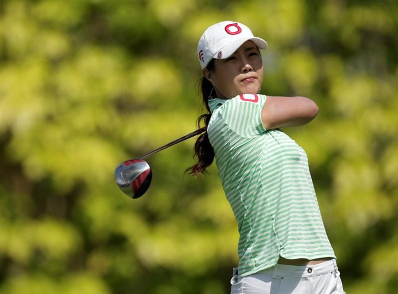 SINGAPORE - FEBRUARY 25:  Meena Lee of South Korea during the second round of the HSBC Women's Champions at Tanah Merah Country Club  on February 25, 2011 in Singapore, Singapore.  (Photo by Ross Kinnaird/Getty Images)