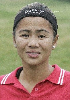 Jennifer Rosales of the Phillipines before the first round of the 2005 ShopRite LPGA Classic at the Seaview Resort and Spa in Galloway, New Jersey on June 3, 2005.Photo by Jim Rogash/WireImage.com