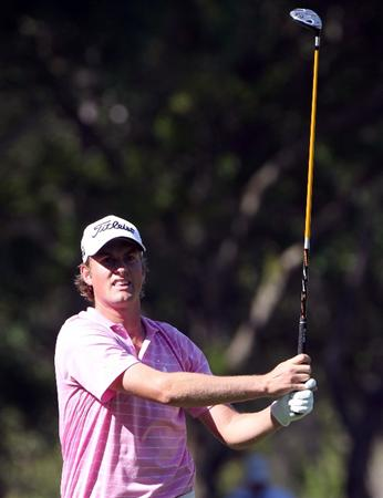 PALM HARBOR, FL - MARCH 19:  Webb Simpson plays a shot on the 11th hole during the third round of the Transitions Championship at Innisbrook Resort and Golf Club on March 19, 2011 in Palm Harbor, Florida.  (Photo by Sam Greenwood/Getty Images)