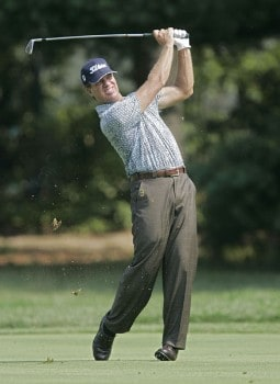 Steve Elkington during the first round of the 2005 PGA Championship at Baltusrol Golf Club in Springfield, New Jersey on August 11, 2005.Photo by Hunter Martin/WireImage.com
