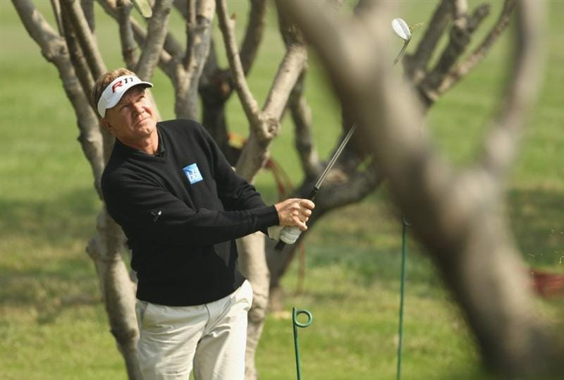 NEW DELHI, INDIA - FEBRUARY 18:  Paul Broadhurst of England competes during the second round of the Avantha Masters held at The DLF Golf and Country Club on February 18, 2011 in New Delhi, India.  (Photo by Ian Walton/Getty Images)