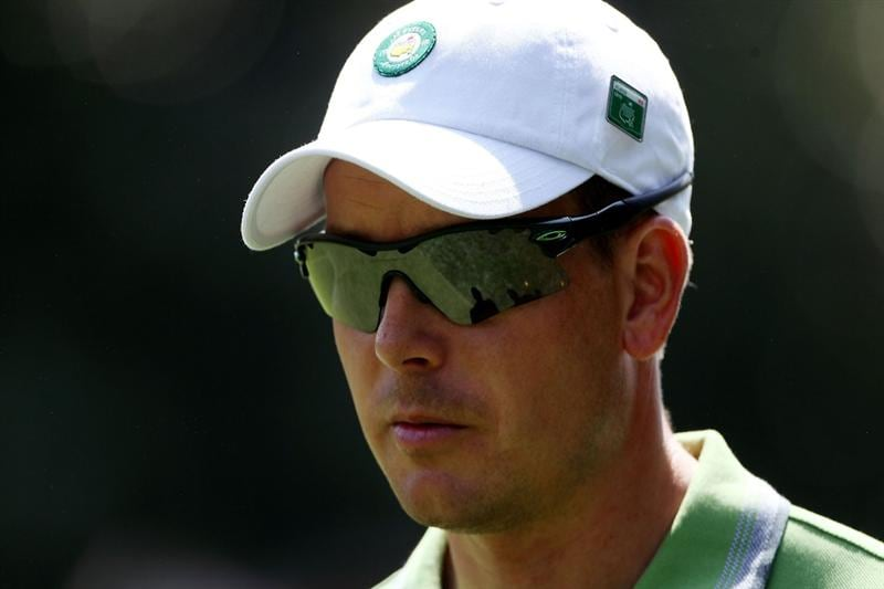 AUGUSTA, GA - APRIL 07:  Henrik Stenson of Sweden looks on during a practice round prior to the 2010 Masters Tournament at Augusta National Golf Club on April 7, 2010 in Augusta, Georgia.  (Photo by Andrew Redington/Getty Images)