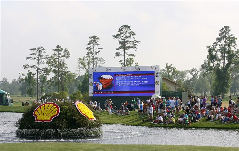 HUMBLE, TX - APRIL 4: A view of the scoreboard on the 18th hole during the final round of the Shell Houston Open at Redstone Golf Club on April 4, 2010 in Humble, Texas. (Photo by Hunter Martin/Getty Images)