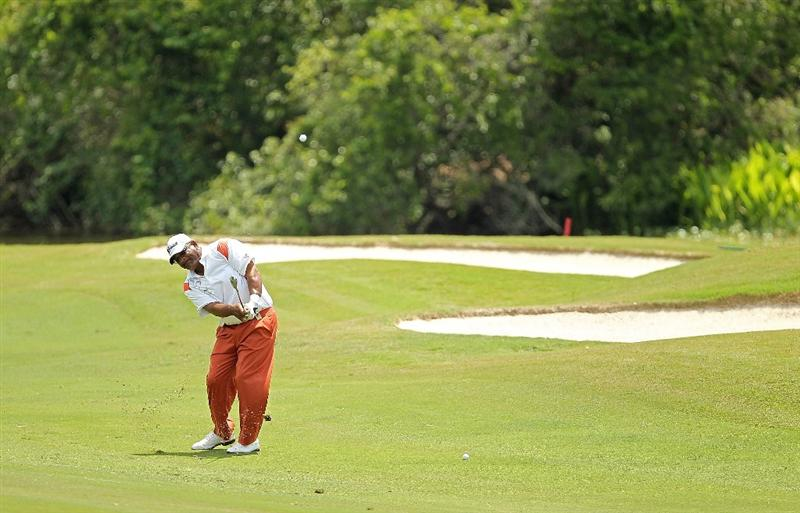 LUTZ, FL - APRIL 16:  Jim Thorpe hits his approach on the 13th hole during the second round of the Outback Steakhouse Pro-Am at the TPC of Tampa on April 16, 2011 in Lutz, Florida.  (Photo by Mike Ehrmann/Getty Images)
