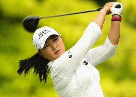 SINGAPORE - FEBRUARY 28:  Jeong Jang of South Korea tees off on the sixth hole during the first round of the HSBC Women's Champions at Tanah Merah Country Club on February 28, 2008 in Singapore.  (Photo by Andrew Redington/Getty Images)