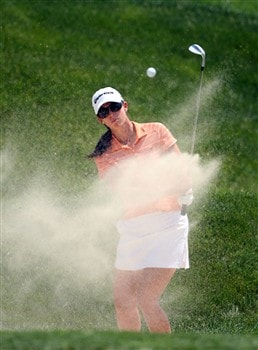 HAVRE DE GRACE, MD - JUNE 08:  Nicole Castrale hits her third shot on the 9th hole during the final round of the McDonald's LPGA Championship at Bulle Rock Golf Course on June 8, 2008 in Havre de Grace, Maryland.  (Photo by Andy Lyons/Getty Images)