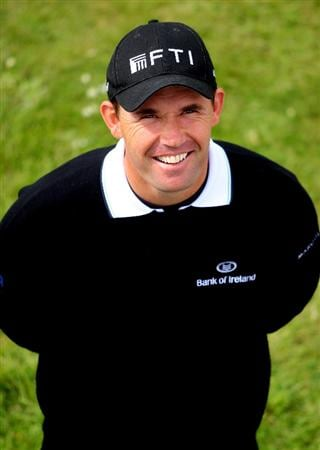 BALTRAY, IRELAND - MAY 13:  Padraig Harrington of Ireland poses for a photograph on the first hole during the Pro-Am prior to the start of The 3 Irish Open at County Louth Golf Club on May 13, 2009 in Baltray, Ireland.  (Photo by Andrew Redington/Getty Images)