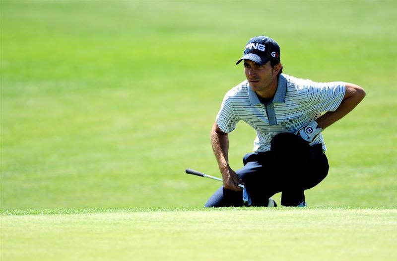 MALLORCA, SPAIN - MAY 15:  Alejandro Canizares of Spain lines up his putt on the 12th hole during the third round of the Open Cala Millor Mallorca at Pula golf club on May 15, 2010 in Mallorca, Spain.  (Photo by Stuart Franklin/Getty Images)