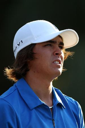 PONTE VEDRA BEACH, FL - MAY 04:  Rickie Fowler looks on during a practice round prior to the start of THE PLAYERS Championship held at THE PLAYERS Stadium course at TPC Sawgrass on May 4, 2010 in Ponte Vedra Beach, Florida.  (Photo by Scott Halleran/Getty Images)