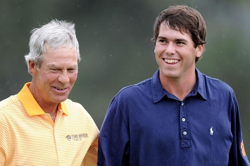 AUGUSTA, GA - APRIL 08:  (L-R) Ben Crenshaw and amateur Ben Martin walk together during the first round of the 2010 Masters Tournament at Augusta National Golf Club on April 8, 2010 in Augusta, Georgia.  (Photo by Harry How/Getty Images)