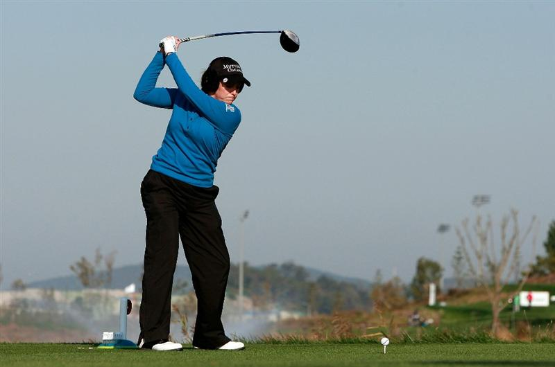 INCHEON, SOUTH KOREA - OCTOBER 30:  Cristie Kerr of United States hits a tee shot on the second hole during the 2010 LPGA Hana Bank Championship at Sky 72 Golf Club on October 30, 2010 in Incheon, South Korea.  (Photo by Chung Sung-Jun/Getty Images)