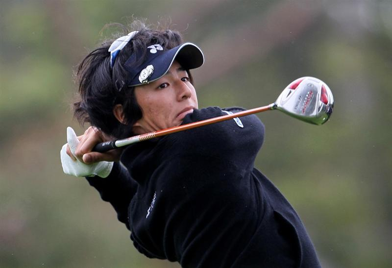 PACIFIC PALISADES, CA - FEBRUARY 06:  Ryo Ishikawa of Japan hits a tee shot on the second hole during the third round of the Northern Trust Open at Riviera Country Club on February 6, 2010 in Pacific Palisades, California.  (Photo by Jeff Gross/Getty Images)