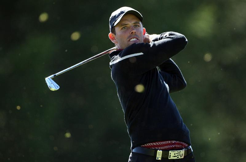 CRANS, SWITZERLAND - SEPTEMBER 05:  Charl Schwartzel of South Africa watches his tee-shot on the 16th hole during the third round of The Omega European Masters at Crans-Sur-Sierre Golf Club on September 5, 2009 in Crans Montana, Switzerland.  (Photo by Andrew Redington/Getty Images)